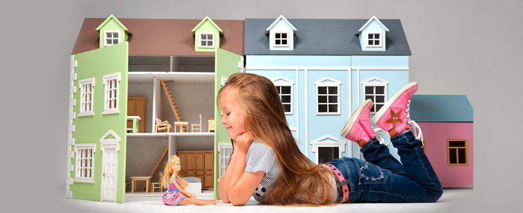 Case dell bambole in legno - Kalena.it
