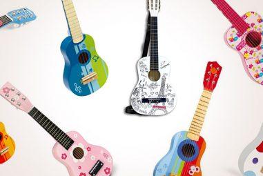 Chitarre in legno per bambini, 14 strumenti musicali